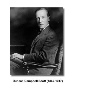 the culture of aboriginal canadians in duncan campbell scott poems 19 ex brown, in his duncan campbell scott, is the first to give this phrase authority (duncan campbell scott, p 79), a phrase, as dragland notes in his introduction to brown's article, that scott particularly liked (p 73.